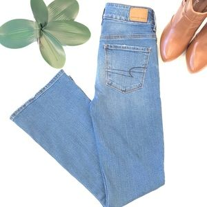 American Eagle High Rise Artist Flare Jeans